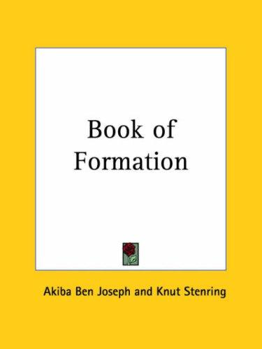Book of Formation by Akiba Ben Joseph