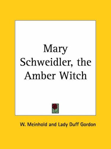 Mary Schweidler, the Amber Witch by W. Meinhold