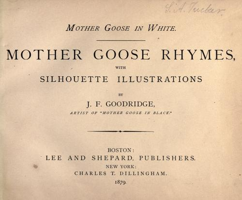 Mother Goose in white by