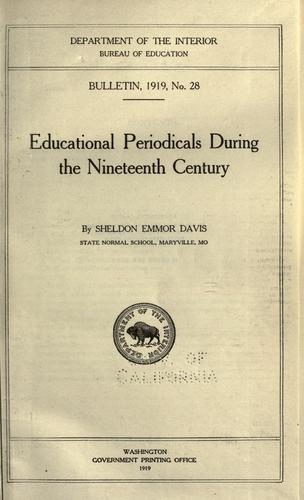 Educational periodicals during the nineteenth century