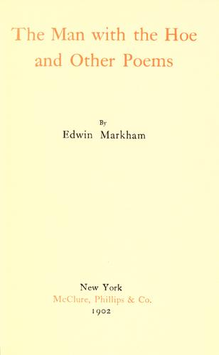 The man with the hoe by Edwin Markham