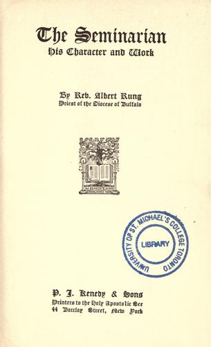 The Seminarian by Rung, Albert