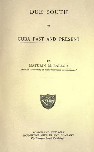 Due south by Ballou, Maturin Murray