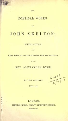 Poetical works by John Skelton
