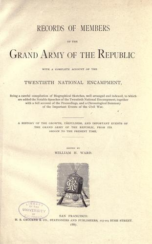 Records of members of the Grand Army of the Republic by
