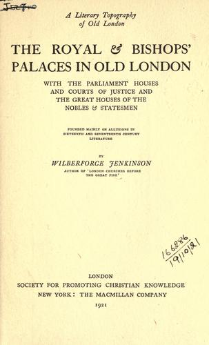 A literary topography of old London.