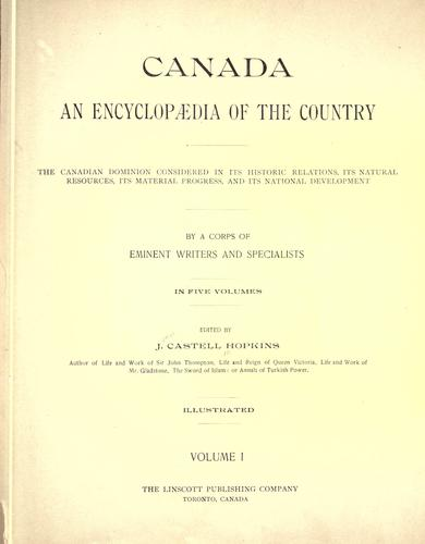 Canada, an encyclopaedia of the country