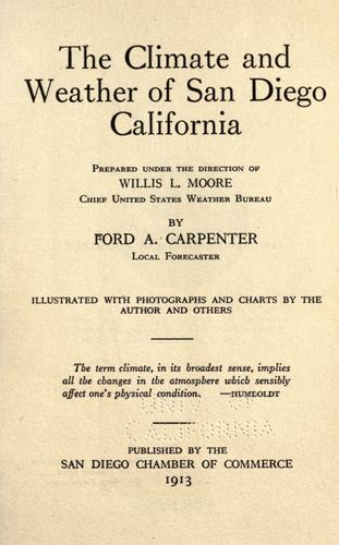 The climate and weather of San Diego, California by Carpenter, Ford A.