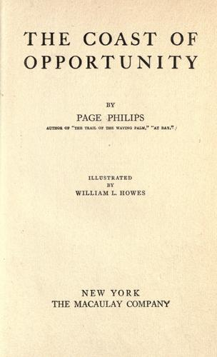 The coast of opportunity by Page Philips